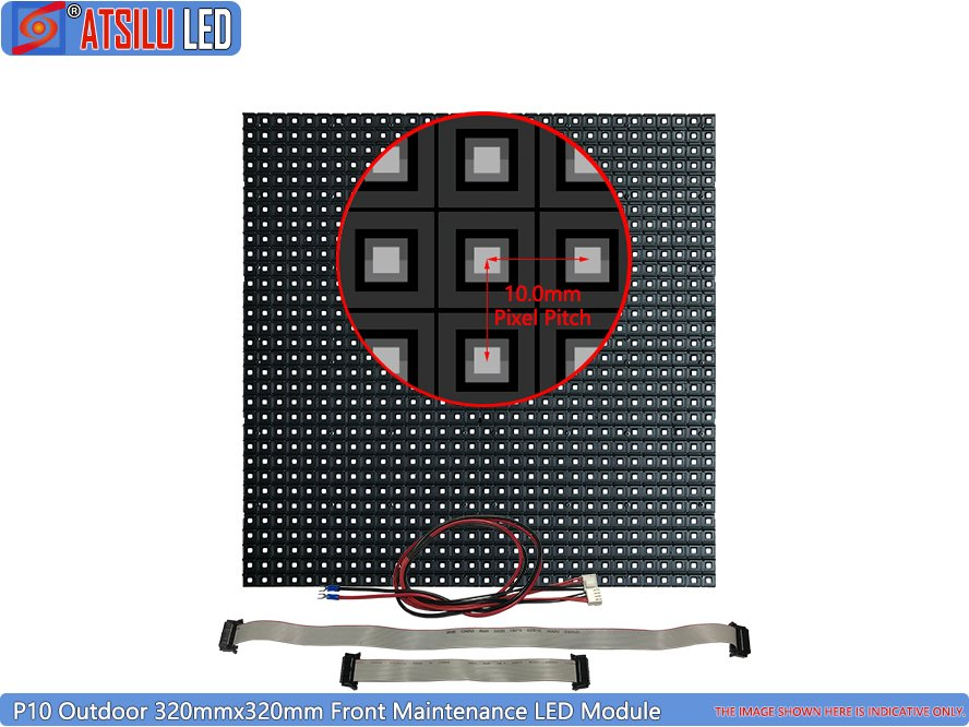 P10mm Front Maintenance LED Display SMD3535 Module