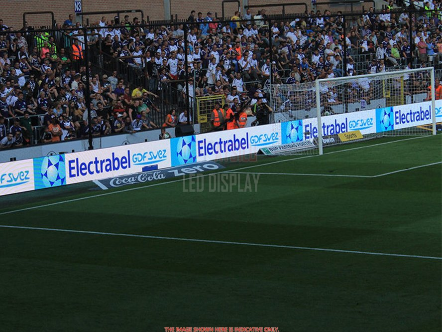 P10mm DIP346 Stadium Perimeter LED Display High Brightness Venues LED Advertising Board