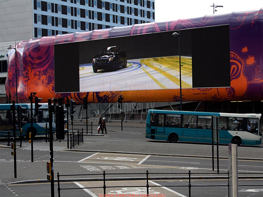 P10mm Front-Service Outdoor LED-display IP65-classificatie OOH Advertentie LED-videopaneel