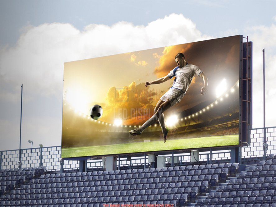 P10mm SMD3535 Stadium Perimeter LED Signage Display Sports Field LED Banner Screen