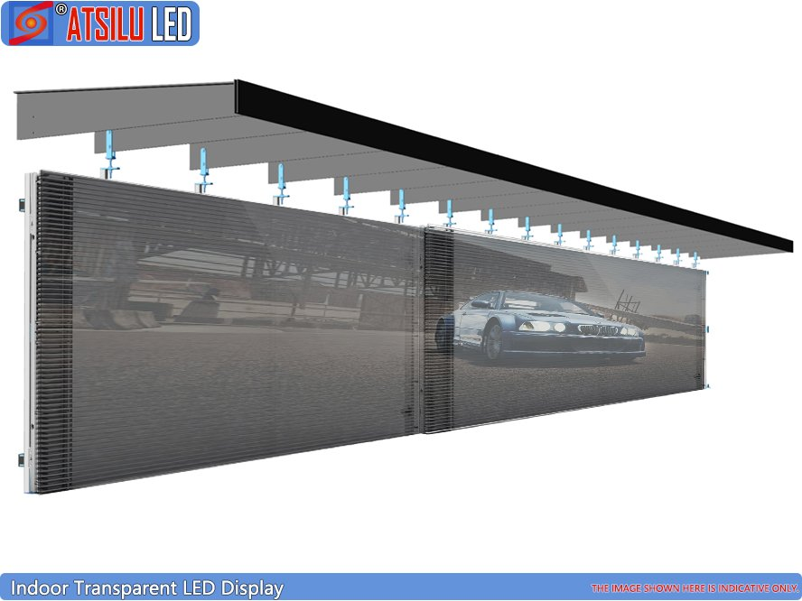 P12.4mm High Brightness Transparent LED Wall Display