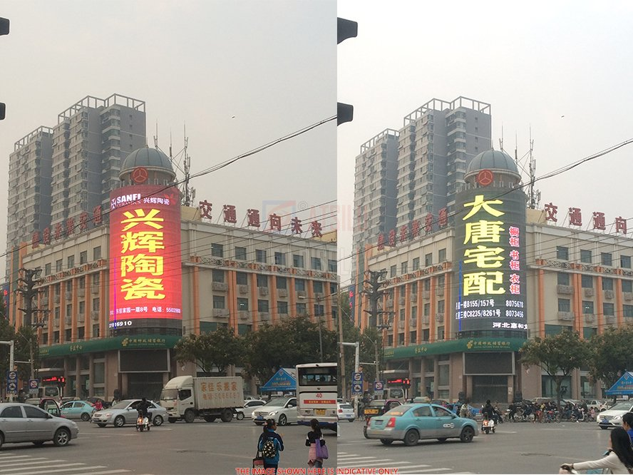 P12.5mm High Brightness Transparent LED Display Outdoor HD LED Facade Advertising Video Wall