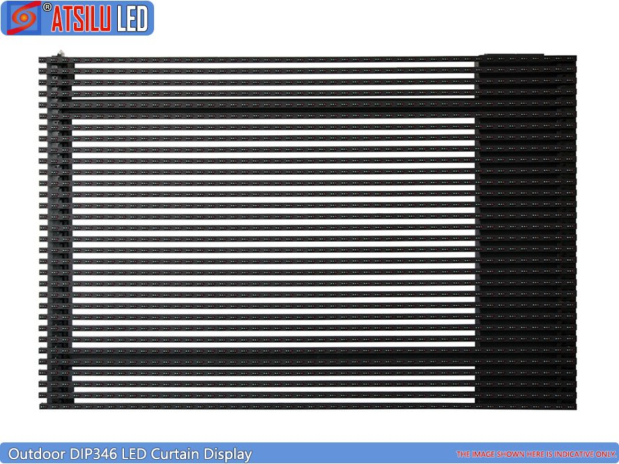 P15.6mm LED Facade Curtain Display LED Cabinet