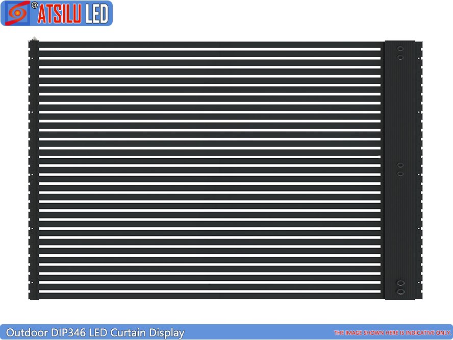P15mm Lightweight LED Facade Curtain Display