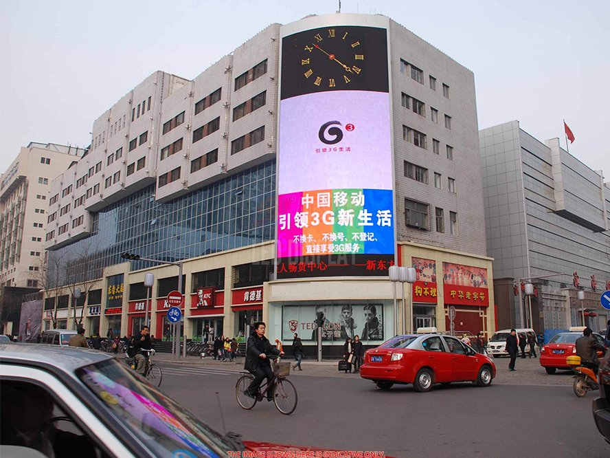 P15.6mm LED Facade Curtain Display High-Performance RGB Full-Colour Transparent Mesh Screen