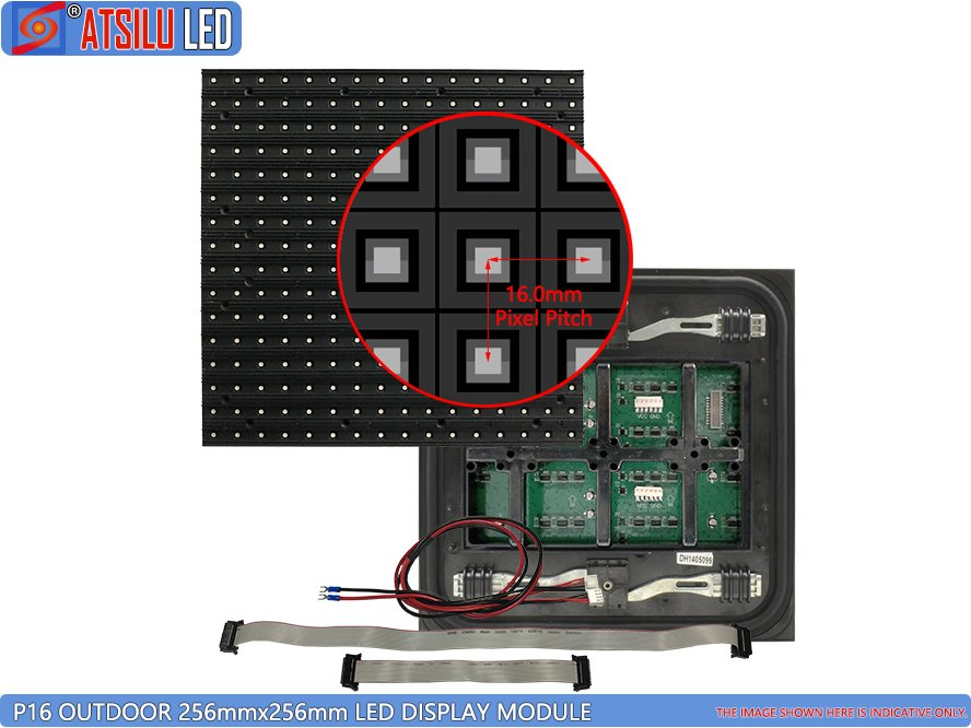 P16.0mm Pemeliharaan Depan Luar SMD LED Display Module