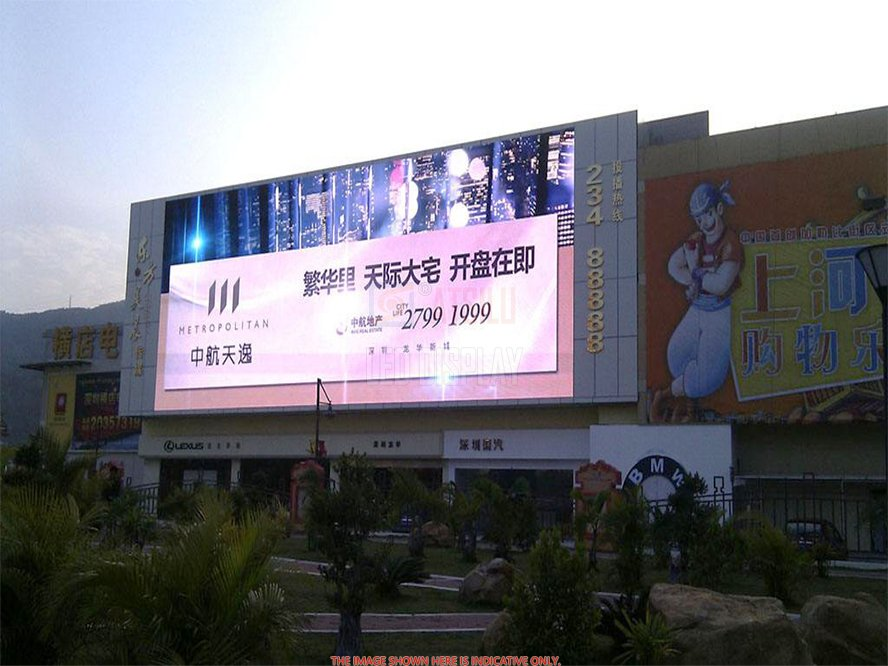 P16mm SMD3535 LED Digital Billboard Fijo DOOH Publicidad Video Señalización Display