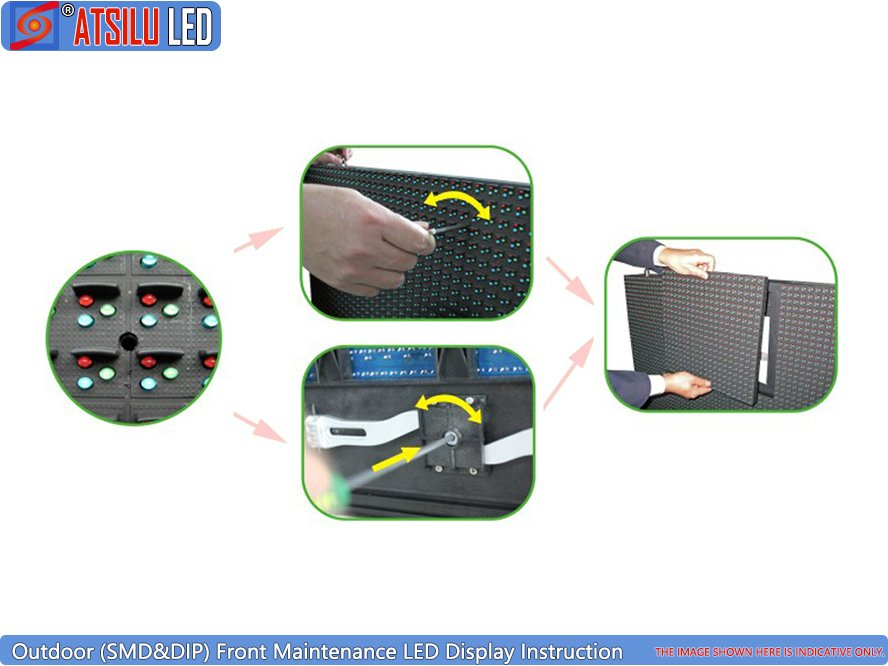 P16mm Outdoor Front Maintenance LED Display Instruction
