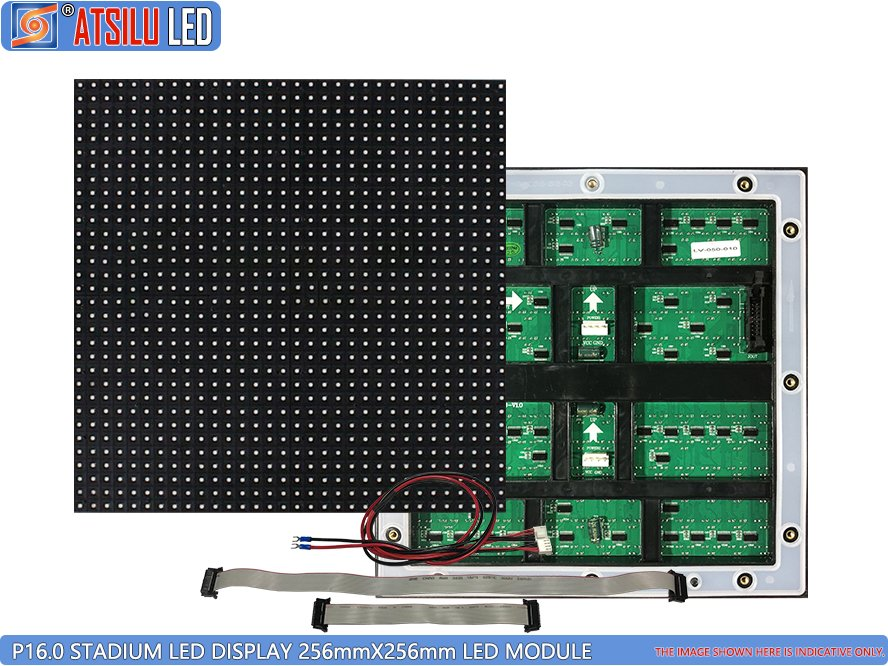 P16mm SMD3535 Sports Stadium Perimeter LED Display Module