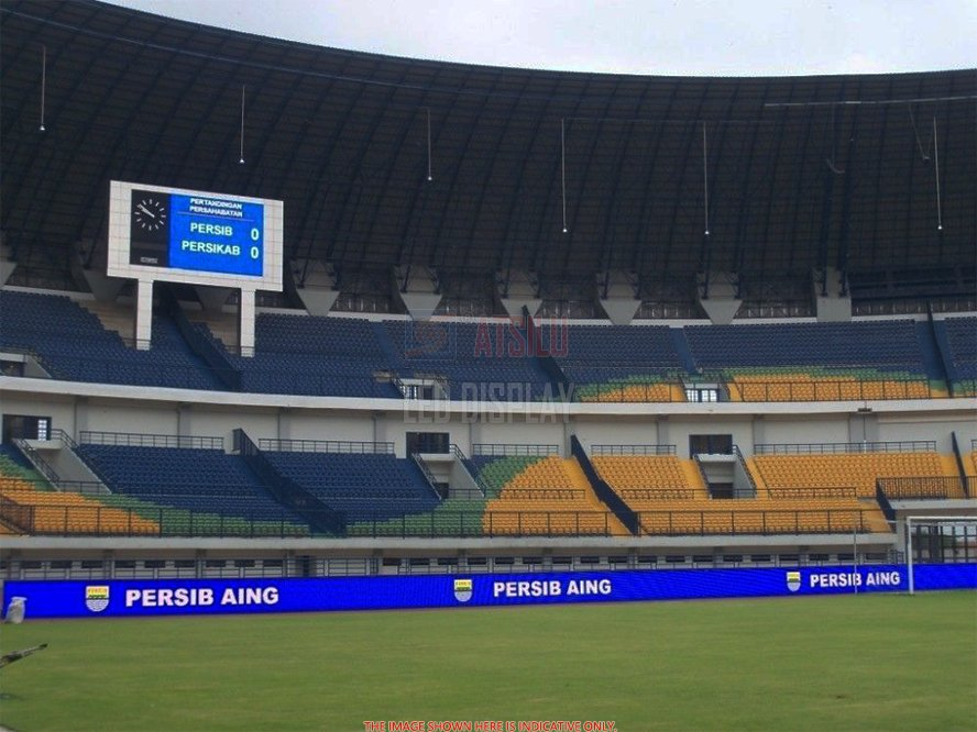P16mm DIP346 stadionperimeter LED-reclameweergave Sportveld Ground Stand LED-banerscherm
