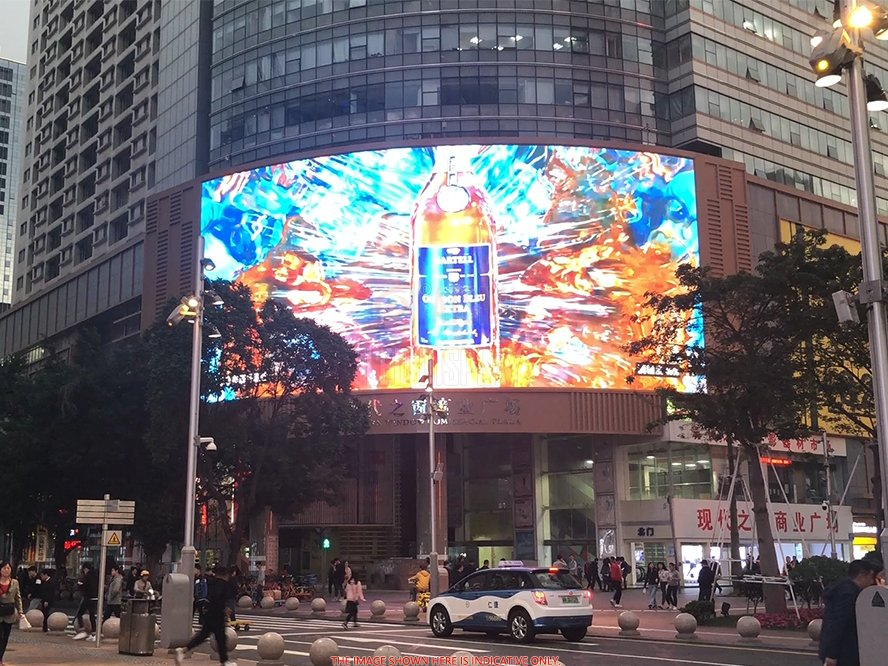 P16mm SMD Full-Colour Curved LED Advertising Screen Wall High Brightness DIP346 Curved LED Display