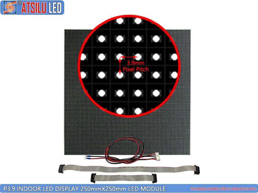 Wewnętrzny wyświetlacz LED P3.9mm Moduł LED 250 mm