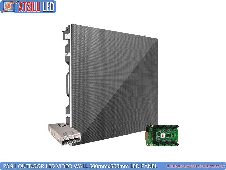 P3.91mm Kabinet LED Video Dinding Luar Ruangan