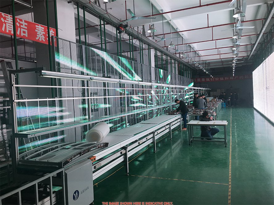 P3.91mm High-Definition Transparent LED Display Indoor and Outdoor Glass LED Curtain Screen