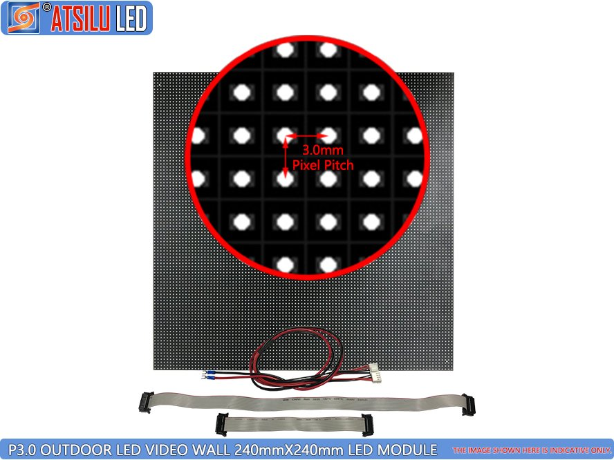 P3mm High-Definition LED Video Wall LED-module voor buiten