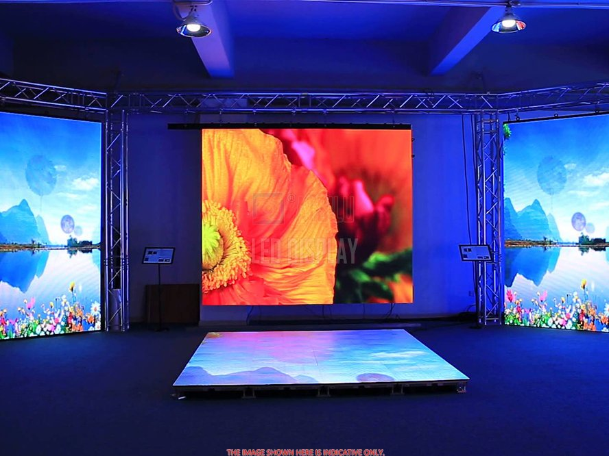 P3mm Indoor Alto desempenho LED Video Wall de alta qualidade Black SMD Lâmpada Full-Color LED Display