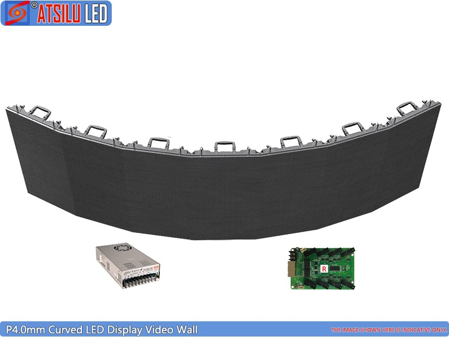 P4.0mm Curved LED Display Video Wall Curved Shape