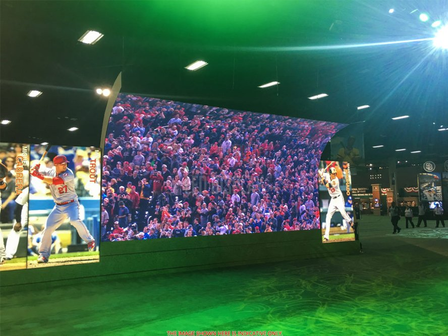 P4.81mm Curved LED Screen Video Wall Customized Shape Design Stage Backdrop Rental LED Wall