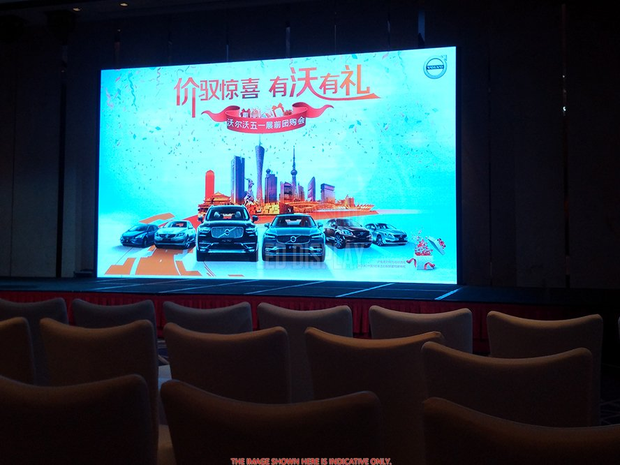 P4.81mm Indoor Rental LED Screen Die-Casting Aluminium Large LED Display Wall for Hire Market