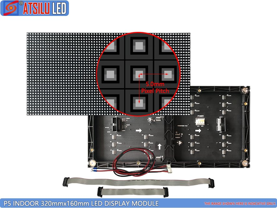 320mmx160mm LED-displaymodule P5mm binnen