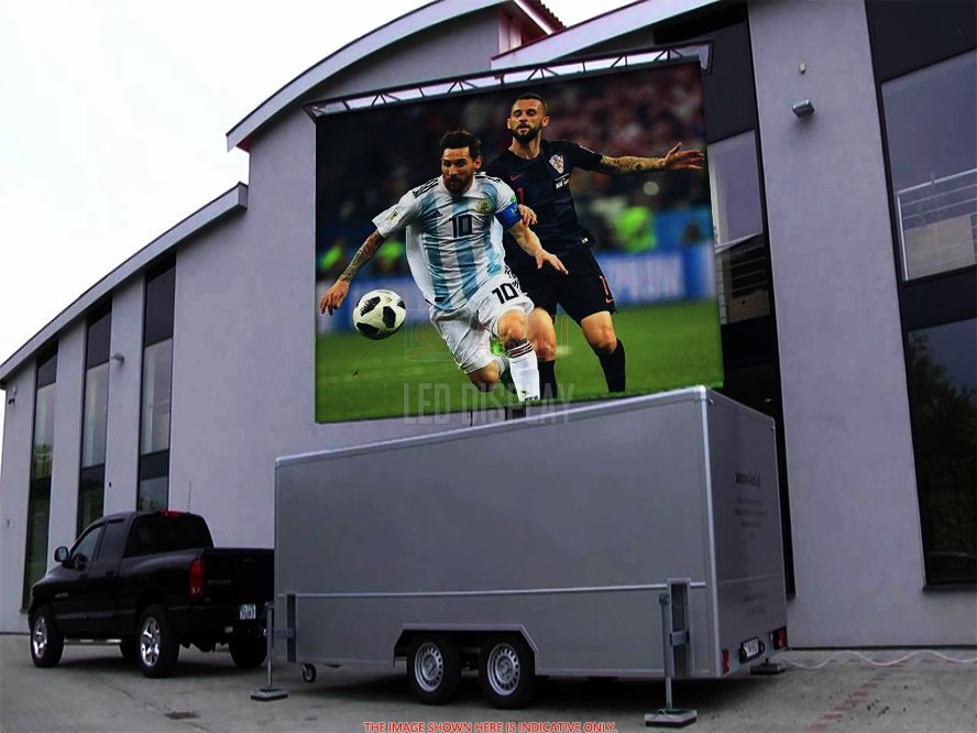 P5mm Outdoor LED Display untuk OOH Advertising Outdoor Full Color LED Video Screen