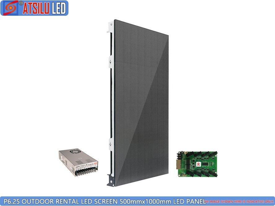 P6.25mm ตู้ให้เช่า LED หน้าจอ LED กลางแจ้ง