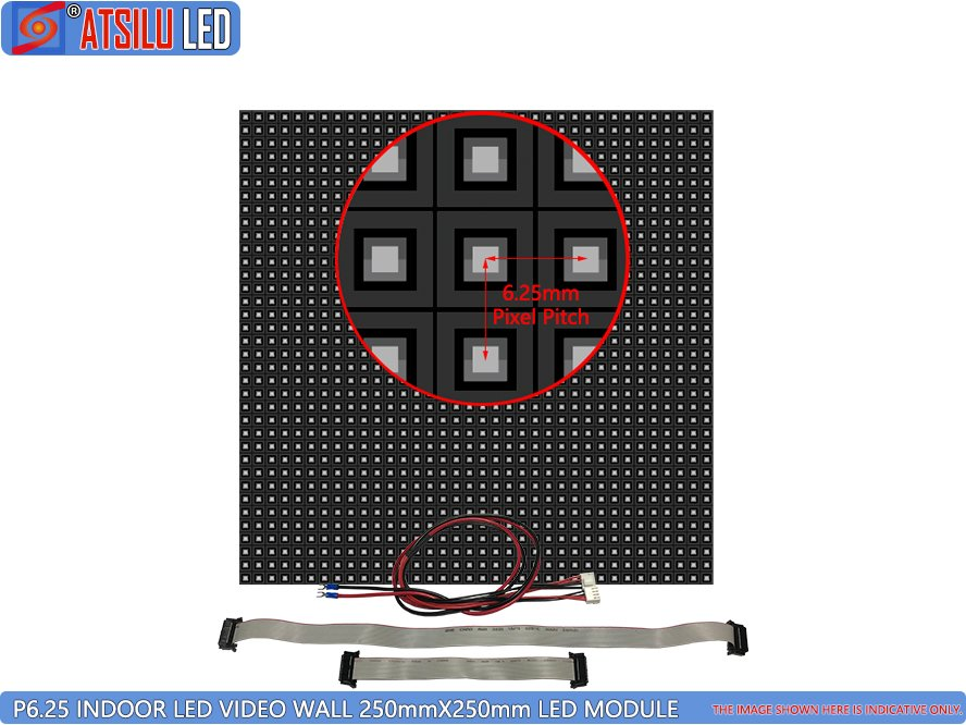 P6.25 ইনডোর LED ভিডিও ওয়াল LED মডিউল Mod