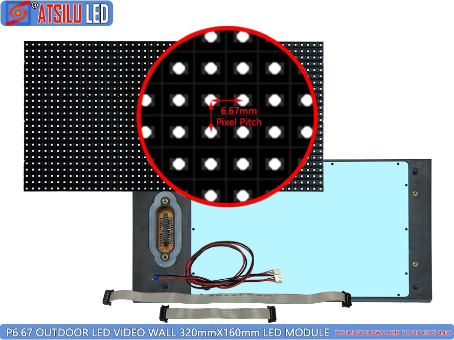 P6.67mm Luar Ruangan LED Video Wall LED Module
