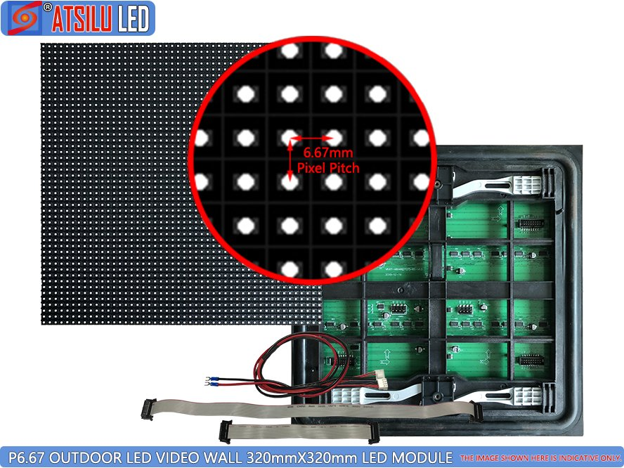 P6.67mm Outdoor LED Video Wall Front Maintenance LED Module