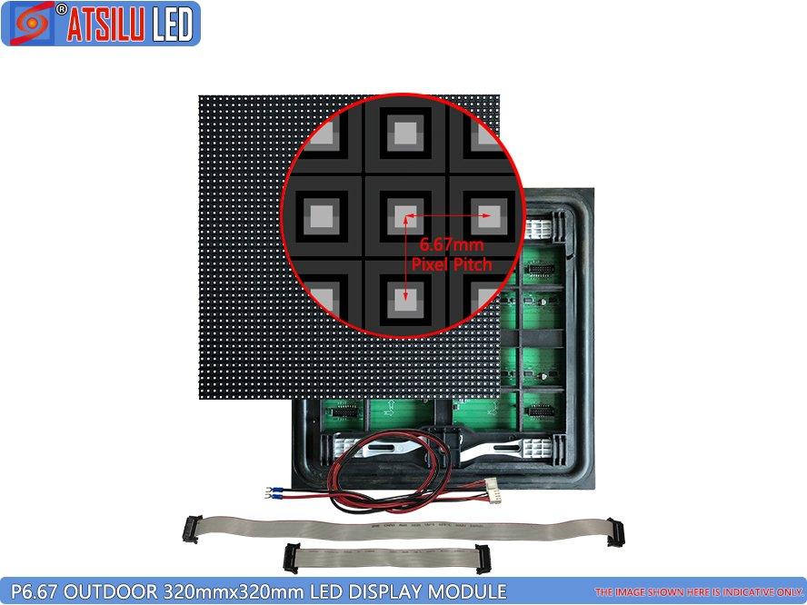 Módulo LED de serviço frontal P6.67mm