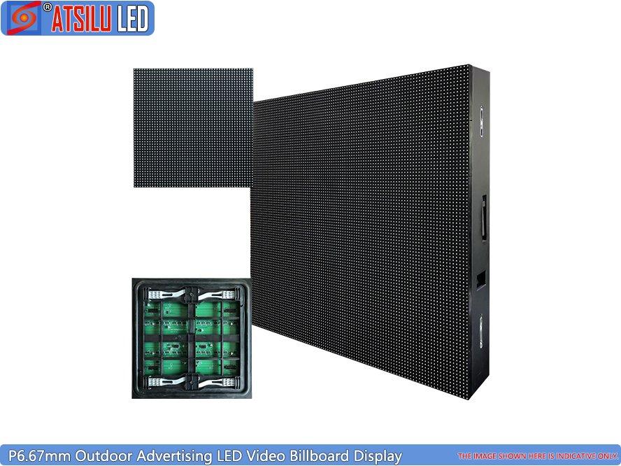 P6.67mm εξωτερική οθόνη LED οθόνης βίντεο