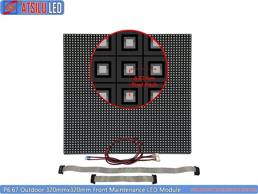 P6.67mm Onderhouds LED-displaymodule voor buiten