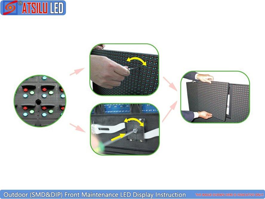 P6.67mm Zewnętrzny wyświetlacz LED do konserwacji z przodu
