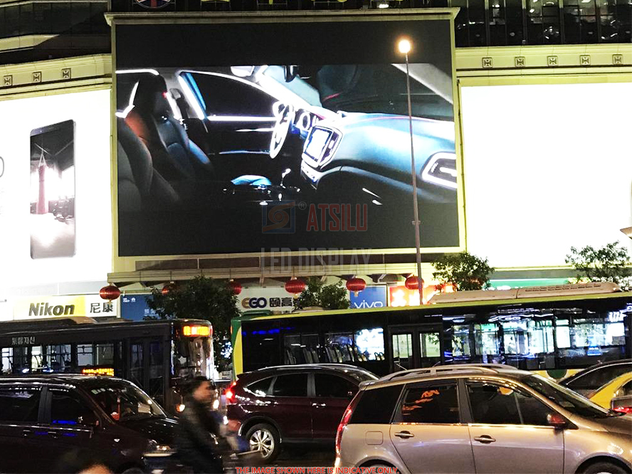 P6.25mm Outdoor LED Display Panel LED 500mmx1000mm untuk Memasang Layar LED Format Besar