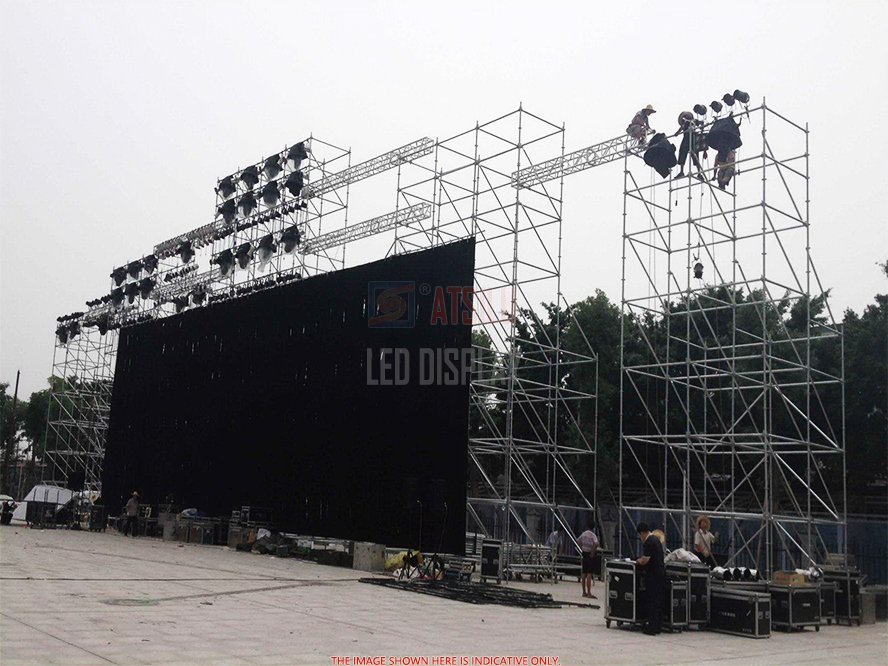 P6.25mm Outdoor LED Video Wall Standard Lightweight 500mmx1000mm High-Definition LED Video Panel
