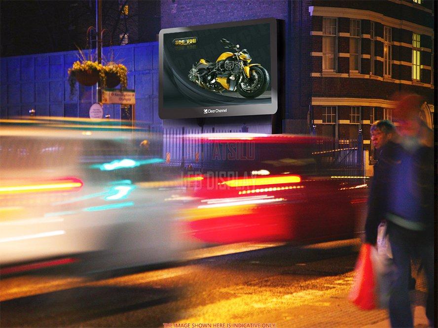 P6.67mm Pemeliharaan Depan Luar Ruangan Digital Advertising Billboard Tampilan LED Definisi Tinggi