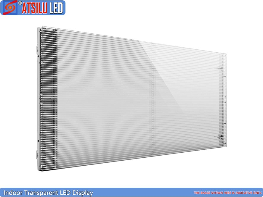 P7.81mm Semi-Outdoor transparenter LED-Vitrinenschrank