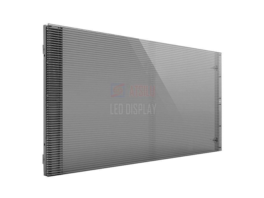 P7.81mm Semi-Outdoor Transparentes LED-Display Werbung LED-Vorhang Videobildschirm Wand