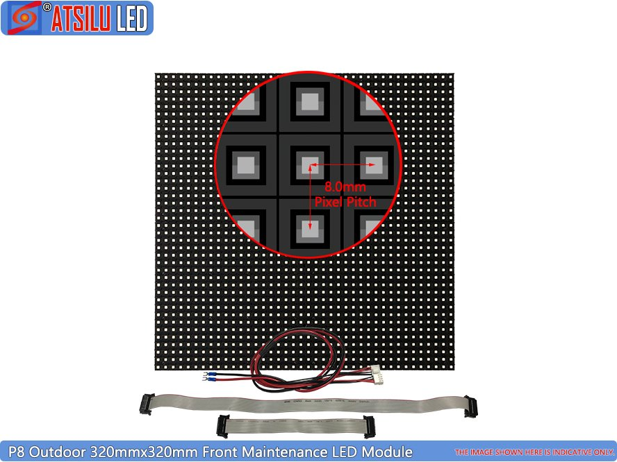 P8mm Acceso frontal LED Video Wall Display LED Módulo
