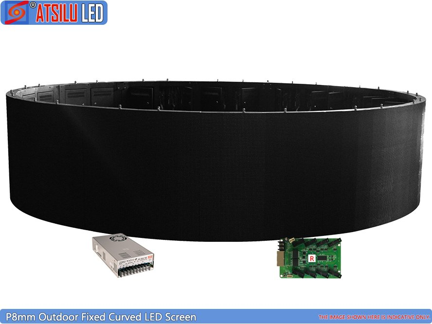P8mm Outdoor Fixo Curvo LED Screen Circle