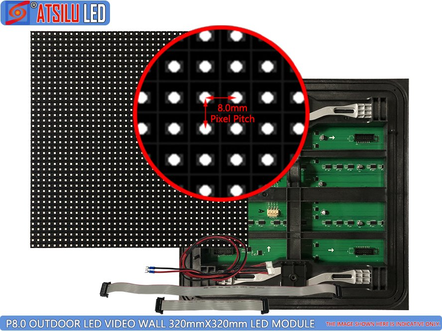 P8mm Outdoor LED Video Wall Front Maintenance Modul LED