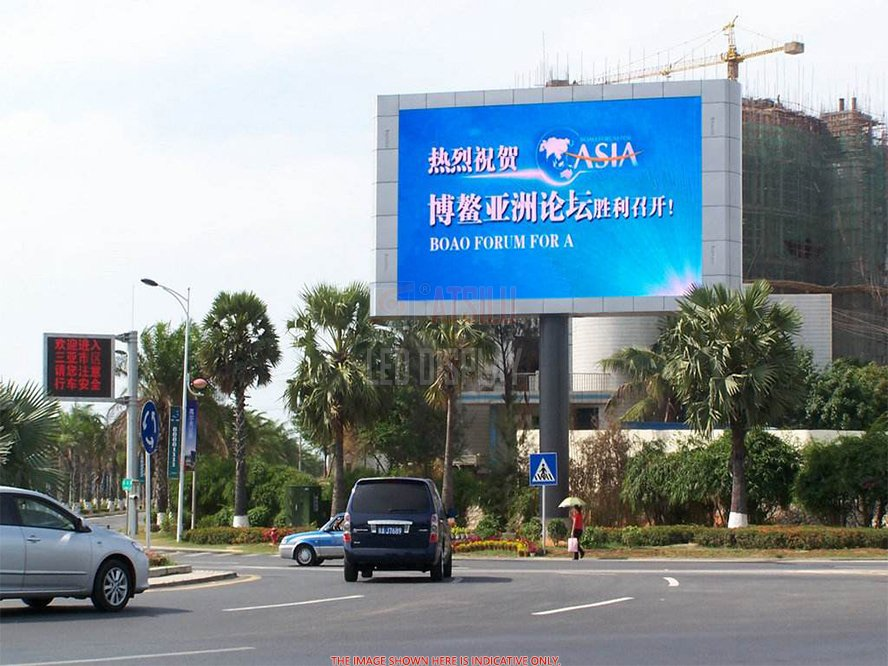 P8mm Luar Ruangan LED Video Wall DOOH Signage Iklan LED Video Billboard Layar