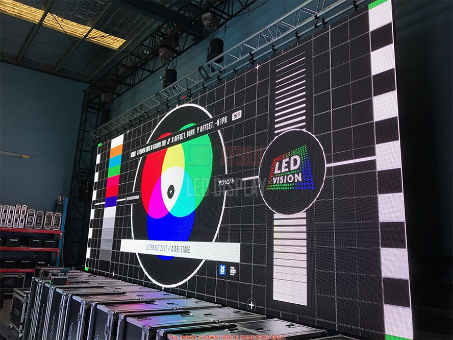 P8mm SMD3528 Indoor LED Display Full-Colour Cost-Saving Large LED Video Wall Screen