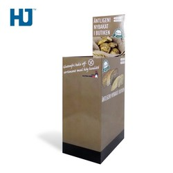 Cardboard Dump Bins Display Stand For Bread Or Cake At Supermarket Or Shop Retail