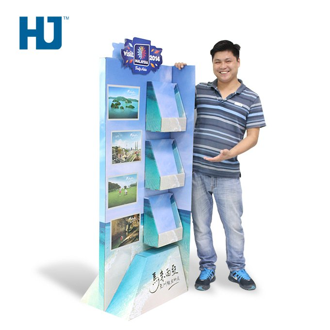 SideKick Tourist Guide Book Displays With 3 Tiers For Book Store Or Supermarket