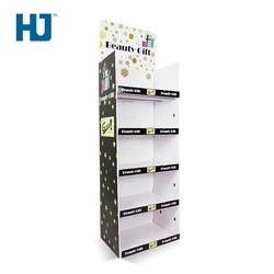 Beauty Gift Cardboard Floor Display With 4 Tiers At Supermarket Or Store