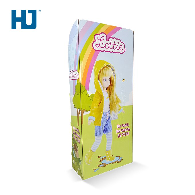 Beauty Doll Cardboard Floor Display With 3 Tiers At Supermarket Or Toy Store