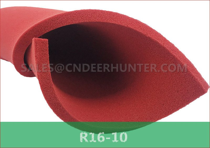 R16-10 open pore red silicone foam sheet
