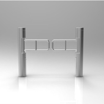Supermarket Swing Turnstile Round Cylinder with Fence SST-N3007