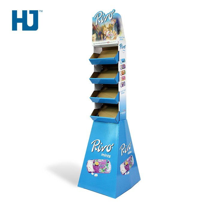 Trapezoid Cardboard Display Stand